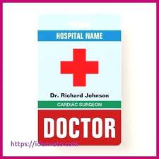 Hospital Id Badge Template Volcanoboarding Info