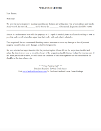 Rental Lease Letters Residential Rental Lease Agreement New Tenant Welcome Letter