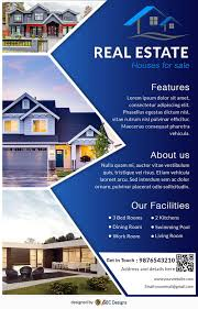 Real Estate Brochure Template Free Download Free House For Sale Real Estate Flyer Design Templates