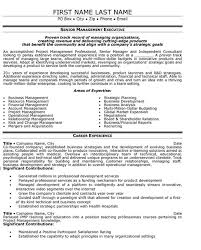 senior executive resume senior management resume templates asafonggecco in senior executive