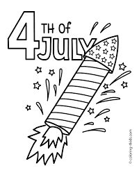 Small Picture July 4 Rocket Coloring Pages USA Independence Day Pages Best Of