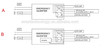 emergency pack has a inverter with change over relay central battery ceag central battery system wiring diagram at Central Battery System Wiring Diagram