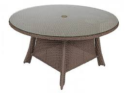 augusta woven 54 round dining table with glass top by woodard