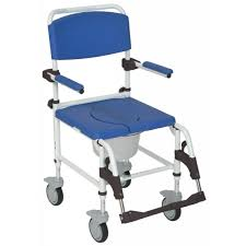 commode shower chair padded arm aluminum
