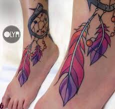 Dream Catcher Tattoo Foot Cool Dreamcatcher Foot Tattoo Best Tattoo Ideas Gallery