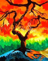 y tree by sy cornelius for painting vino