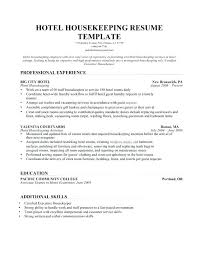 Housekeeping Resume Delectable Housekeeper Sample Resume Resume Samples For Housekeeping Private