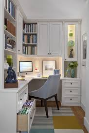 built in office home office traditional with wood shades wood desk built in office