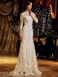 ivory lace wedding dress with sleeves naf dresses