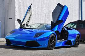 lamborghini gallardo 2014 blue. what do you when own a lamborghini murcielago lp6404 roadster and want to be noticed even more well wrap your chrome blue of gallardo 2014 i