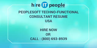People Soft Consultant Resume PeopleSoft Technofunctional Consultant Resume Hire IT People We 26