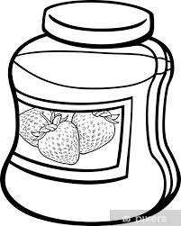 Sticker Jam In Kruik Cartoon Kleurplaat Pixers We Leven Om Te
