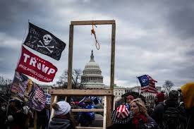 Image result for Images of hangman's noose outside Capitol Building riot