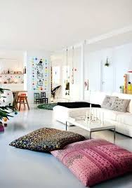 decorating with floor pillows. Floor Seating Ideas Living Room Cushions In The Interior Cool Different Styles Decorating With Pillows O