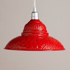 red pendant lighting. Red Punched Metal Pendant | World Market - For Over Sink? Could Spray Paint Any Lighting H