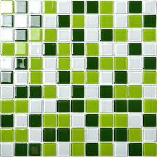 glass mosaic tile kitchen wall tiles green and white mixed crystal design swimming pool uk