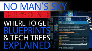 No Mans Sky Beyond Blueprints Guide Tech Trees Technology Building Crafted Trade Goods