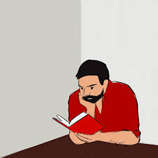 guy reading book animation animated