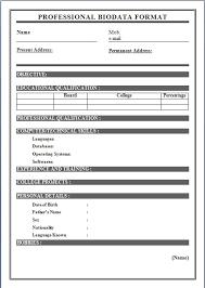 Biodata For Job Application Biodata Format More Photos