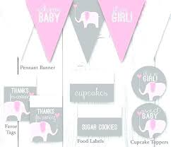 elephant baby decor elephant baby shower package pink gray printable decorations decor on elephant themed baby items