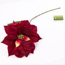 Künstliche Poinsettia Estella Rot 80cm ø27cm