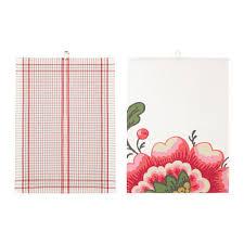 IKEA   INBJUDANDE   Pack 2 Dish Towels Dishcloths 70x50cm Cotton Flower  Square #IKEA