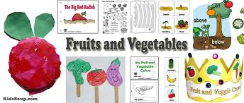 Fruits And Vegetables Preschool Activities Lessons And