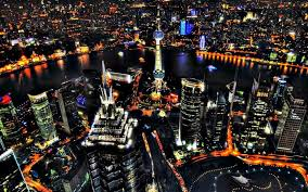 oriental pearl and pudong shanghai night view wallpaper