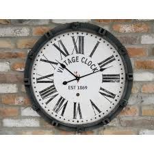 large vintage wall clock clocks