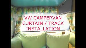 Campervan Design Curtains Campervan Silent Gliss Curtain Track Curtain Installation