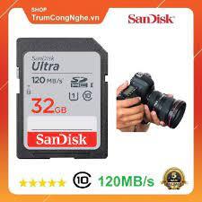 Thẻ nhớ Máy Ảnh SDHC 32GB Sandisk Ultra Class10 UHS-I 120MB/s giá rẻ giá  cạnh tranh