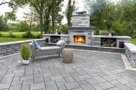 how to landscape around an outdoor fireplace or fire pit in fairfield ct