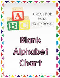 Blank Abc Chart Worksheets Teaching Resources Tpt