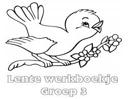 Lente Werkboekje Groep 3 Werkboekjes Printen Op Minipretnl