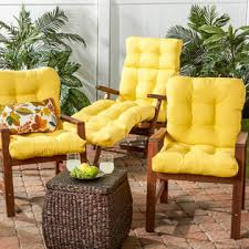 yellow patio furniture. Greendale Home Fashions Set Of Two, Outdoor Seat/Back Chair Cushions, Sunbeam Yellow Patio Furniture R