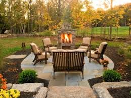 Fine Patio Ideas With Fireplace Decoration Outdoor Images Intended Beautiful Design