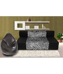 3 Seater Sofa Bed Zeal 3 Seater Sofa Cum Bed With Free Bean Cover Xxl Buy Zeal 3