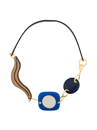 unique 00b50 marni abstract leather corded necklace womens necklaces comvw30a00r2000