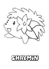 Shaymin Coloring Pages Throughout Pokemon Coloring Pages Online ...