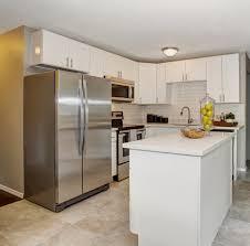 standard depth fridge cramped kitchen