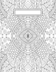 Binder Cover Page Back To School Binder Cover Adult Coloring Pages