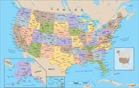 สหรัฐอเมริกาแผนที่-แผนที่สหรัฐอเมริกา(อนเหนือของอเมริกา-Americas)
