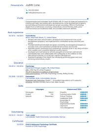 Psychology Sample Resumes Psychology Resume Samples From Real Professionals Who Got