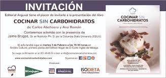 Lovely Invitación Presentación Libro Cocinar Sin Carbohidratos