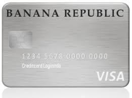 banana republic credit card manage