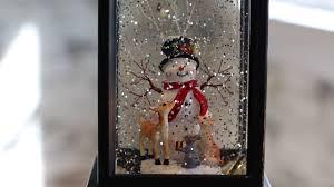 Lighted Snowman Snow Globe Snowman Snow Globe Raz Lighted Water Lantern 3800776 Youtube
