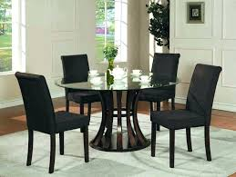 black round dining table and chairs bedding impressive black round kitchen table 5 stunning glass dining