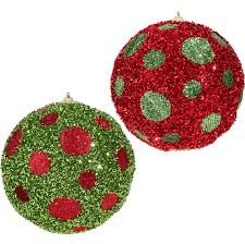 polka dot Christmas ball ornaments, made of tinsel RAZ Everything Merry  item 3706813 Shelley B