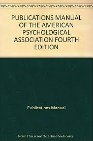 Publications Manual Of The American Psychological Association Fourth