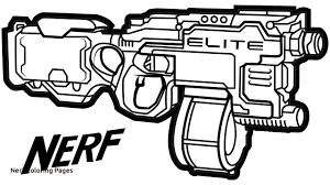 Nerf Gun Coloring Pages To Pin On Pinterest Pinsdaddy With Nerf